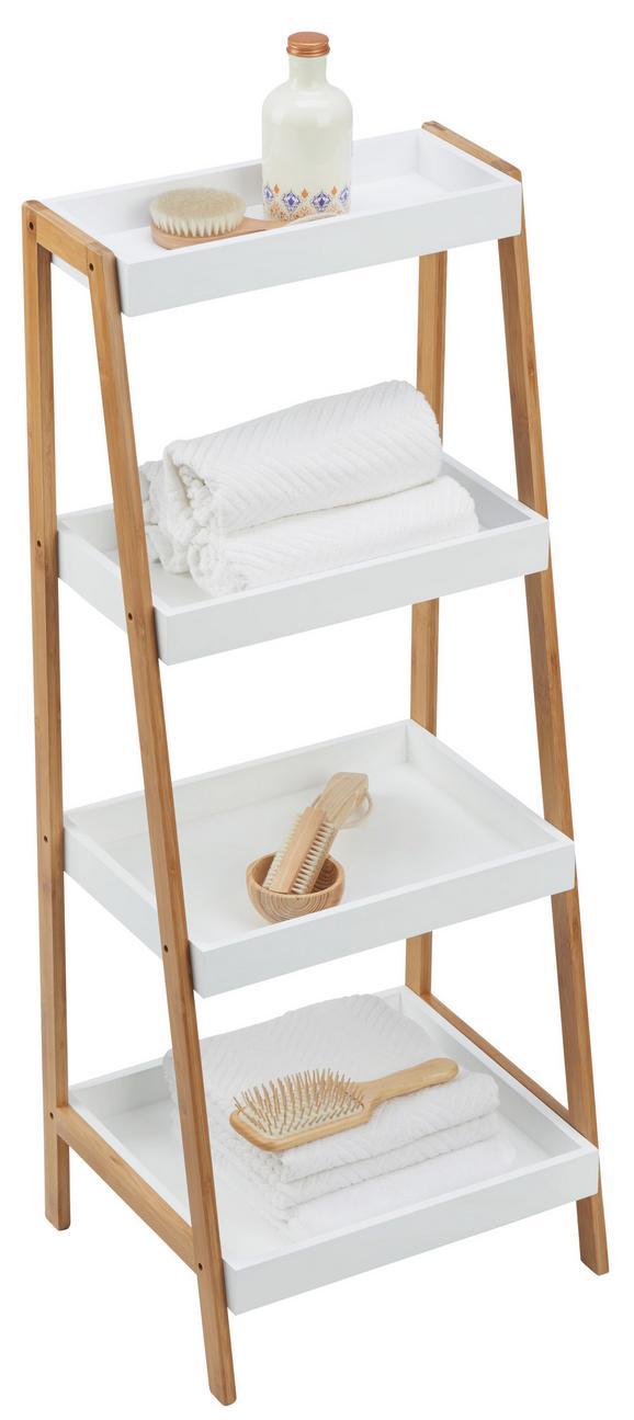 Badezimmerregal mirella naturfarben weiß konventionell holz 44 110 37cm