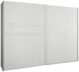 Schwebetürenschrank Seidengrauglas - Hellgrau/Alufarben, KONVENTIONELL, Glas/Holzwerkstoff (252/222/68cm) - Premium Living