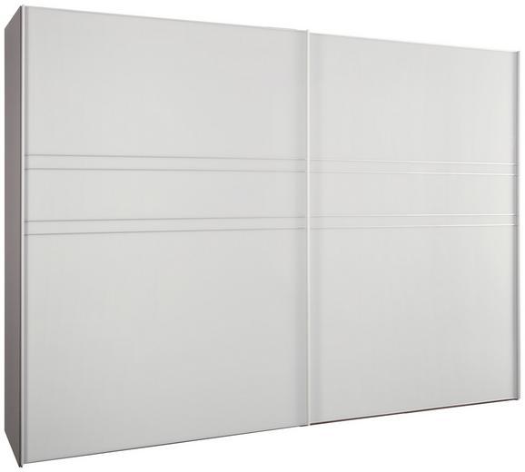 Schwebetürenschrank Seidengrauglas - Hellgrau/Alufarben, KONVENTIONELL, Glas/Holzwerkstoff (306/222/68cm) - PREMIUM LIVING