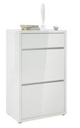 Schuhschrank Weiß Hochglanz - Weiß, MODERN, Holzwerkstoff (64/105,2/36cm) - Mömax modern living