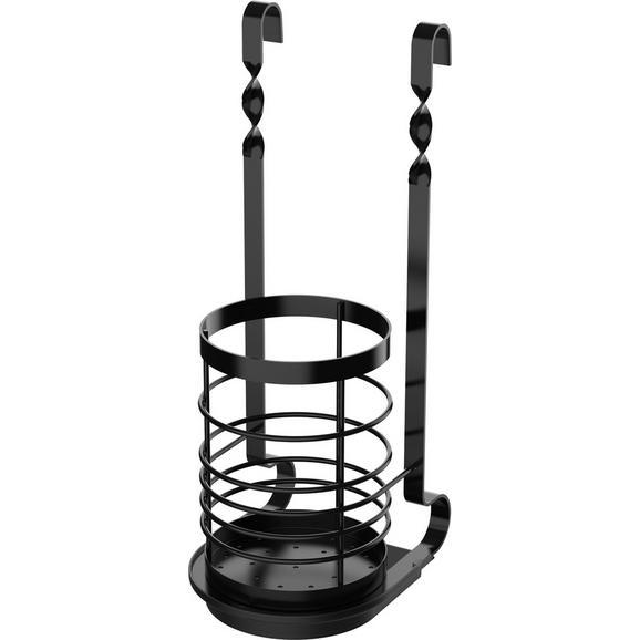 Suport Ustensile Chester - negru, metal (11/32,8cm) - Premium Living