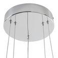 Lustră Cu Led Forli - culoare crom, Modern, plastic/metal (40/100-150cm) - Premium Living