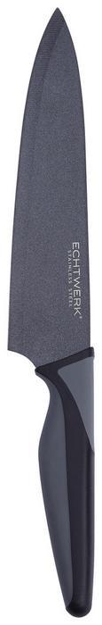 Echtwerk Kochmesser Blacksteel - Schwarz, MODERN, Kunststoff/Metall (32cm) - Echtwerk