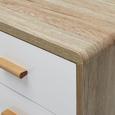 Sideboard Claire - Naturfarben/Weiß, MODERN, Holz (80/78/39cm) - Modern Living