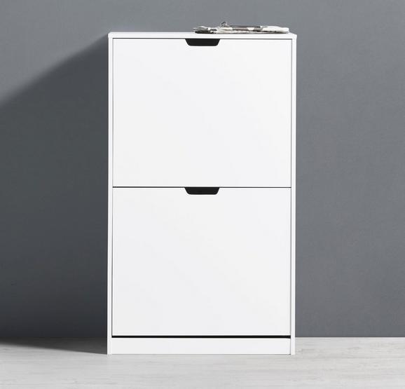 Schuhschrank Basic - Weiß, MODERN, Holz (56/93/30cm) - Modern Living