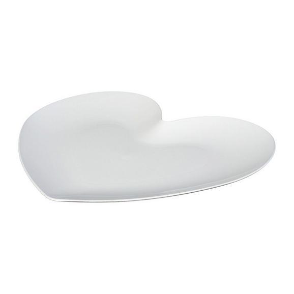 Okrasni Krožnik Mia - bela, Romantika, umetna masa (20/17cm)