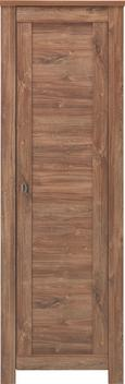 Garderobenschrank Dunkelbraun - Nickelfarben, LIFESTYLE, Holzwerkstoff/Metall (65/200/40cm) - Mömax modern living