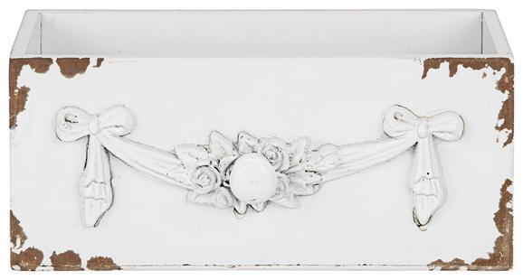 Dekobox Schubia Weiß - Weiß, Holzwerkstoff (25/11/11cm)