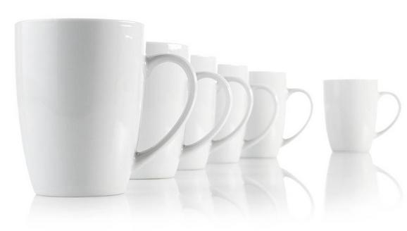 Cană Pentru Cafea ''katrin'' - Alb, KONVENTIONELL, Ceramică (8/10cm) - BASED