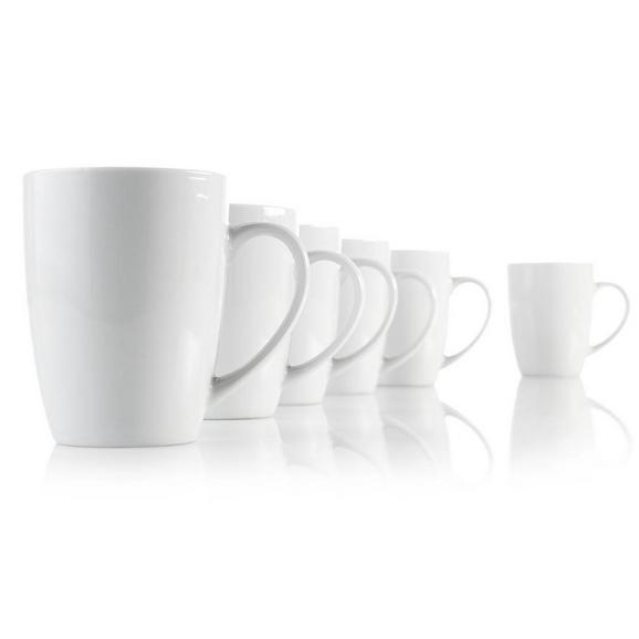 Lonček Za Kavo Katrin - bela, Konvencionalno, keramika (8/10cm) - Based