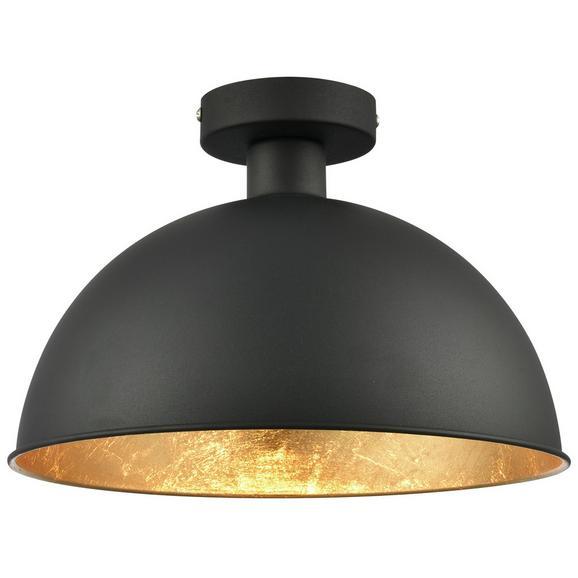 Deckenleuchte Blasi aus Metall max. 60 Watt - Goldfarben/Schwarz, LIFESTYLE, Metall (31/20,5cm) - Modern Living