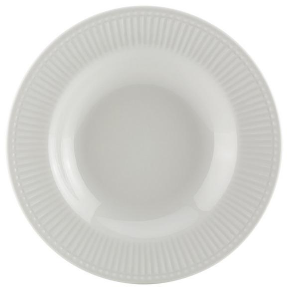 Suppenteller Celina Weiß - Weiß, ROMANTIK / LANDHAUS, Keramik (22/3cm)