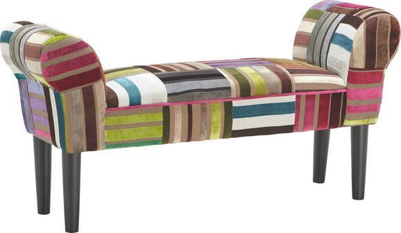 Előszoba Pad Velvet - multicolor, textil/fa (100/50/32cm)