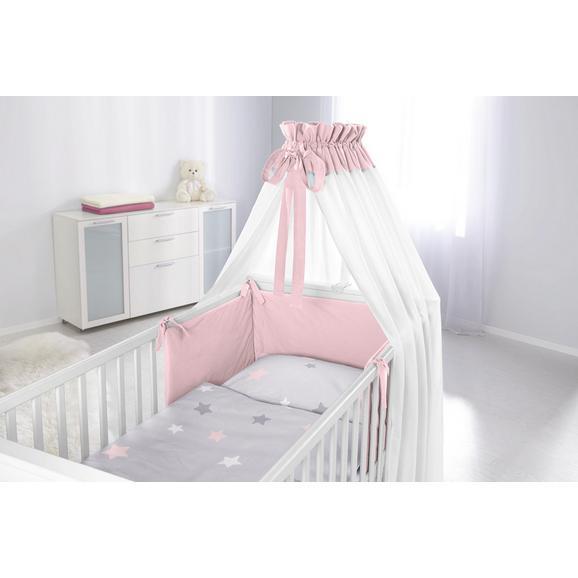 Nestchen Scarlett Grau/Rosa - Rosa, Textil - Mömax modern living