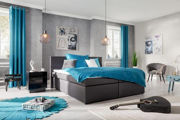 Boxbett Anthrazit 180x200cm - Anthrazit/Schwarz, Holzwerkstoff/Kunststoff (205/198/100cm) - Modern Living