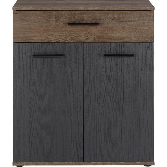 Comodă Tokio - nămol/culoare lemn stejar, Modern, plastic/compozit lemnos (69,9/82,8/34,9cm)