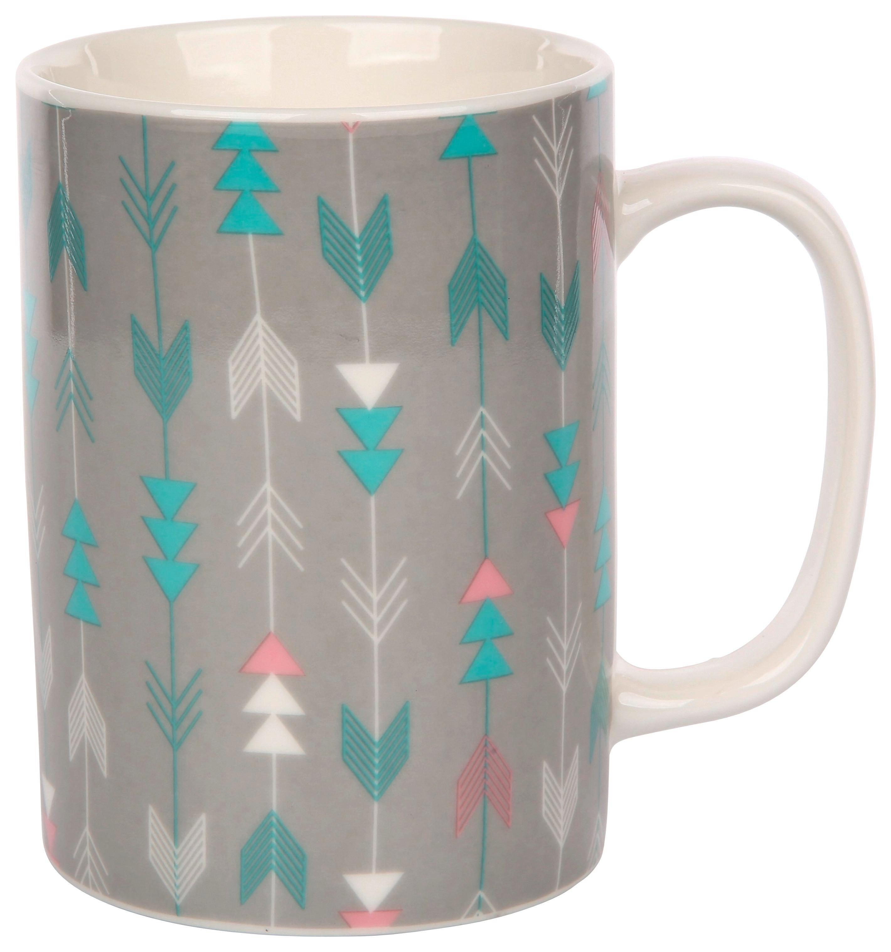 Skodelica Lines - večbarvno, keramika (0,32l)
