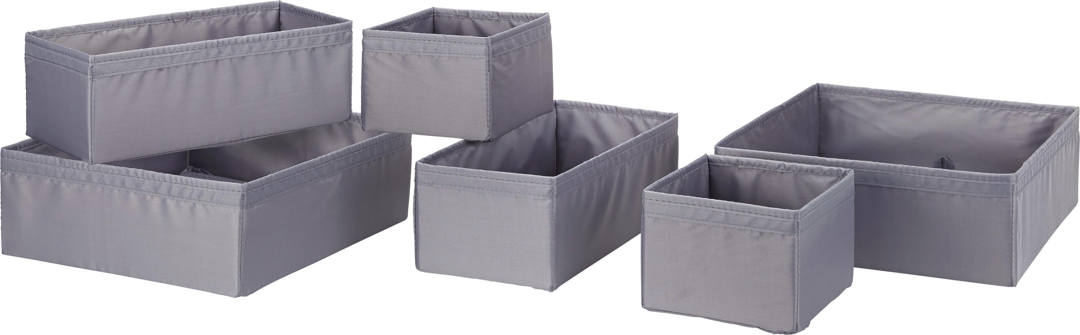 Aufbewahrungsboxen-Set Kläck in Grau - Grau, Kunststoff - MÖMAX modern living