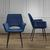 Stuhl Valentine - Blau/Schwarz, MODERN, Holz/Textil (66/92/47cm) - Bessagi Home