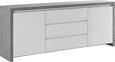 Sideboard in Weiß Hochglanz/Betonoptik - Weiß, MODERN, Holzwerkstoff (190/75/40cm) - Mömax modern living