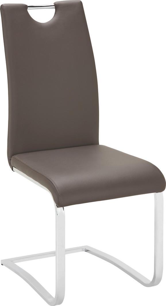Nihajni Stol Madrid - rjava, Moderno, kovina/umetna masa (43/99,5/57,5cm) - Mömax modern living