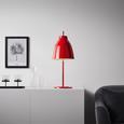 Tischleuchte max. 60 Watt 'Toni' - Rot/Weiß, MODERN, Metall (26/66cm) - Bessagi Home
