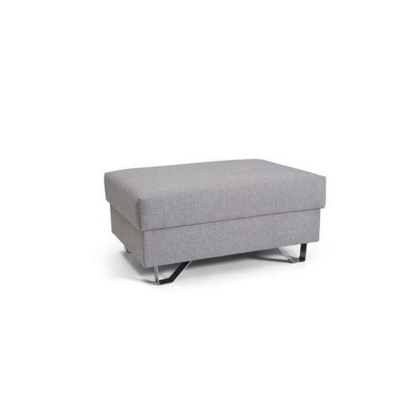 Tabure Mohito - krom/svetlo siva, Moderno, kovina/tekstil (64/43/92cm) - Premium Living