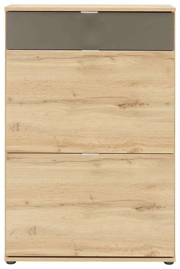 Komoda Combi - črna/peščena, Moderno, kovina/umetna masa (72,0/108,5/37cm)