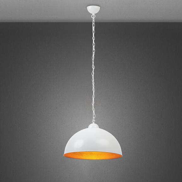 Hängeleuchte Mona - Goldfarben/Weiß, MODERN, Kunststoff/Metall (50/50/150cm) - Mömax modern living