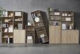 Regal Sonoma Eiche - Grau/Sonoma Eiche, MODERN, Holzwerkstoff/Kunststoff (54/85/34cm)