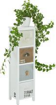 Blumensäule Isa in Weiß - Weiß, MODERN, Holz/Holzwerkstoff (23,5/77,5/20cm) - Mömax modern living