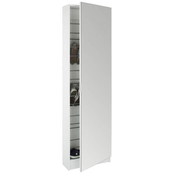 Schuhschrank in Weiß - Weiß, MODERN, Holzwerkstoff/Kunststoff (50/174/20cm)