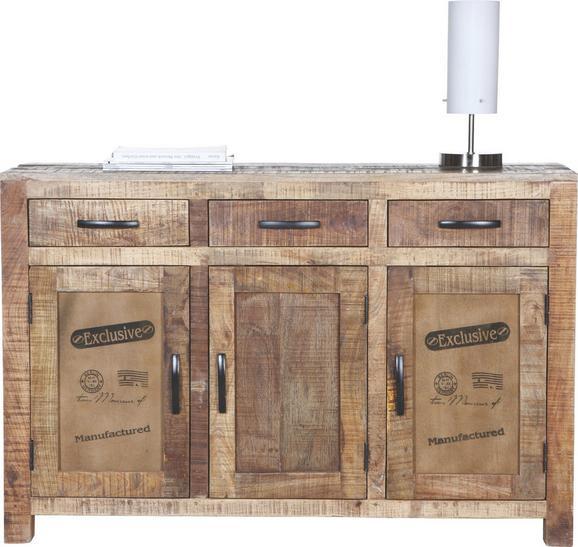 Sideboard Braun - Naturfarben, LIFESTYLE, Holz (130/86/42cm) - Zandiara