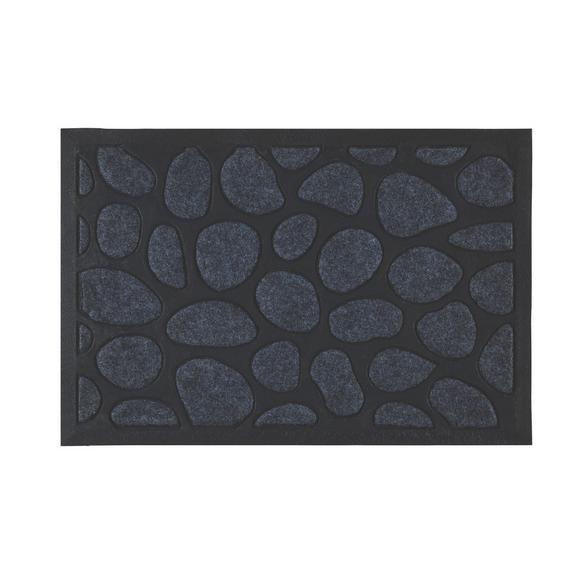 Fußmatte Stone, ca. 40x60cm - Schwarz/Grau, KONVENTIONELL, Textil (40/60cm) - Mömax modern living