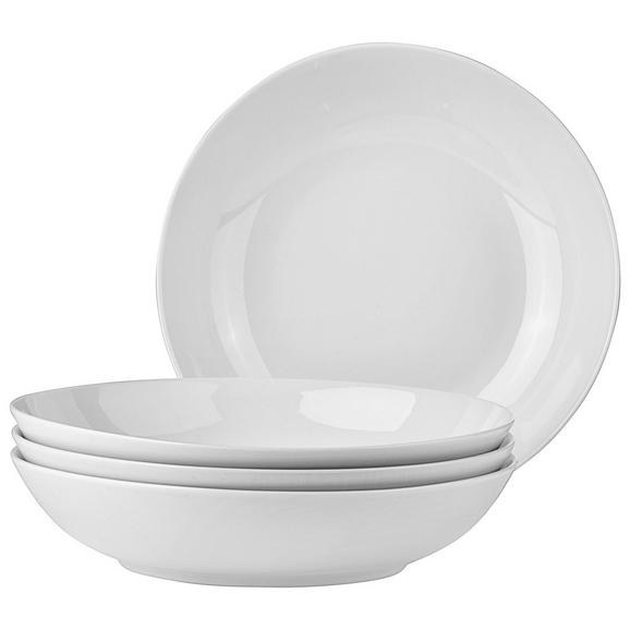 Suppentellere Billy aus Porzellan, 4-teilig - Weiß, Design, Keramik (20,5cm) - Mömax modern living