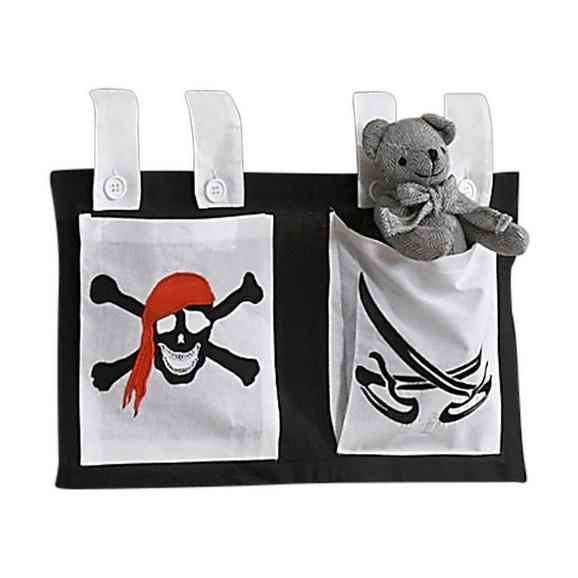 Betttasche Stofftasche - Schwarz/Weiß, Design, Textil