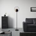 Stehleuchte Sun max. 60 Watt - Schwarz, LIFESTYLE, Metall (41/163cm) - Modern Living