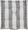 Boxkissen Blockstreif 40x8x40cm - Weiß/Grau, Textil (40/40/8cm) - MÖMAX modern living