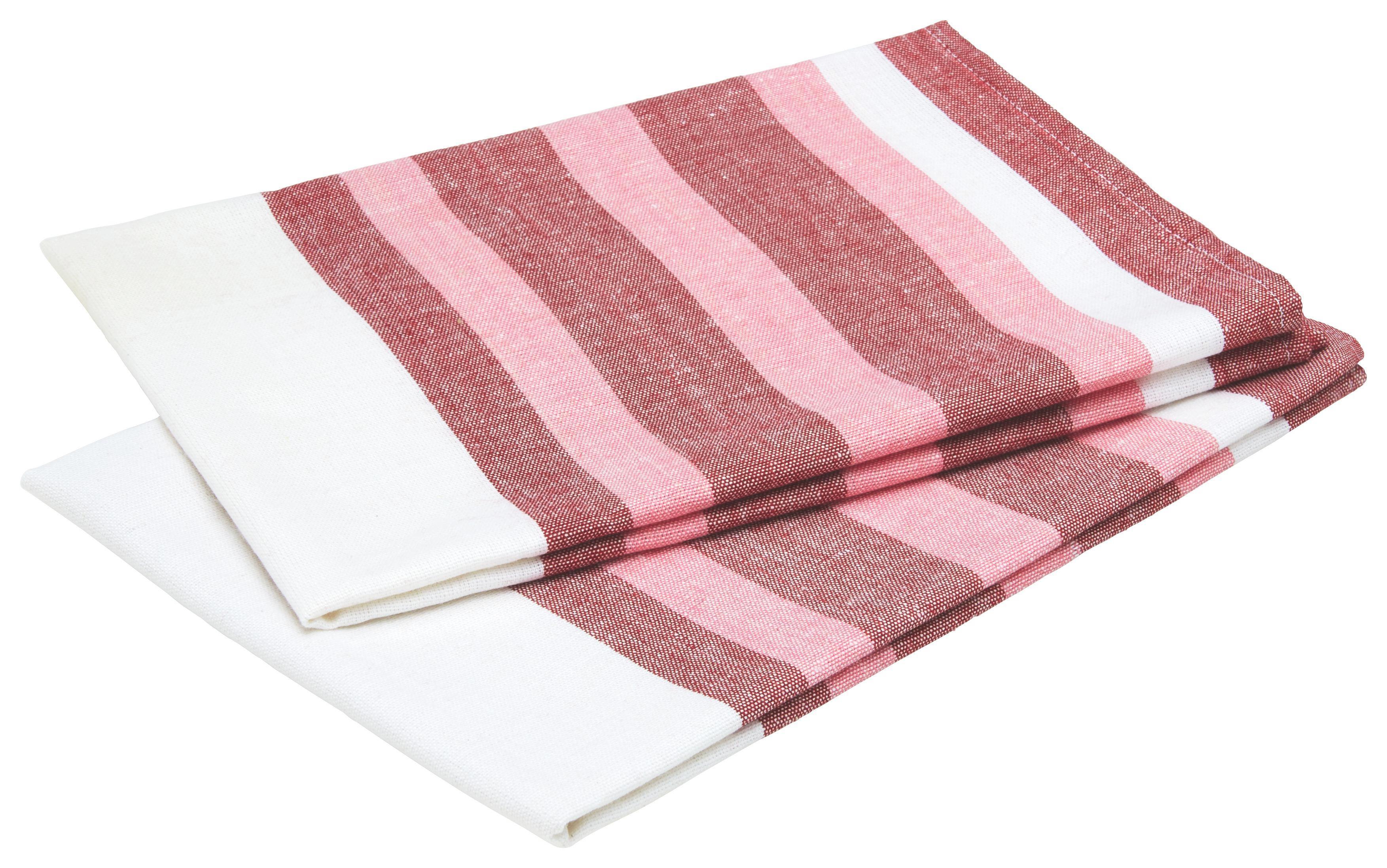 Konyharuha Streif - türkiz/piros, textil (50/70cm) - MÖMAX modern living
