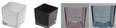 Windlicht Adele in verschiedenen Farben - Schwarz/Rosa, Glas (10/10/10cm) - Mömax modern living