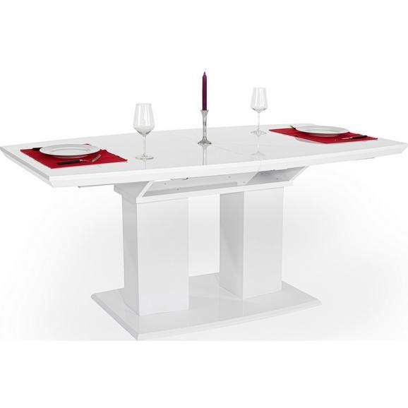 Masă Extensibilă Malvin - alb, Modern, compozit lemnos (180/76/90cm)
