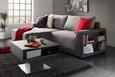Klubska Mizica Arizona - antracit/nerjaveče jeklo, Moderno, leseni material (70/46/69cm) - Premium Living