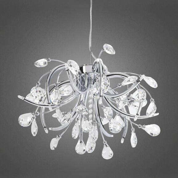 Hängeleuchte Antoinette - Chromfarben, MODERN, Glas/Metall (50/98cm) - PREMIUM LIVING