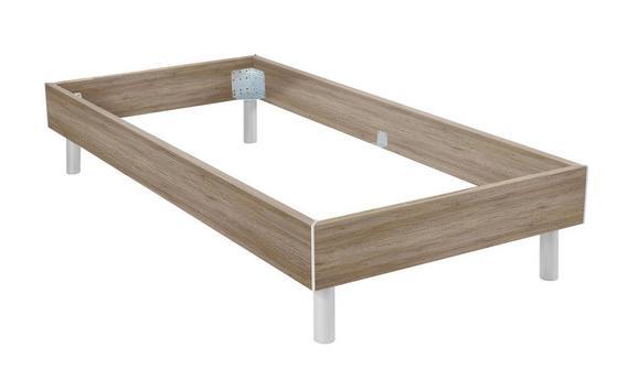 Futonska Postelja Belia - aluminij/hrast, Konvencionalno, kovina/les (120/200cm) - Mömax modern living
