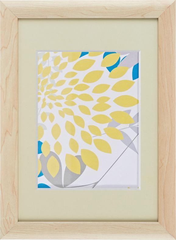 Bilderrahmen Anna, ca. 21x30cm aus Holz - Naturfarben, ROMANTIK / LANDHAUS, Glas/Holz (21/30cm) - Mömax modern living