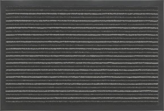 Lábtörlő Tango - fekete/szürke, konvencionális, textil (40/60cm) - MÖMAX modern living