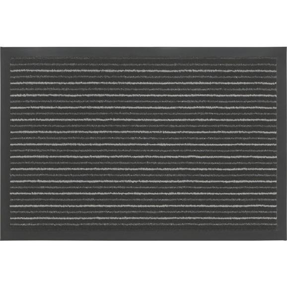 Lábtörlő Tango - Szürke/Fekete, konvencionális, Textil (40/60cm) - Mömax modern living