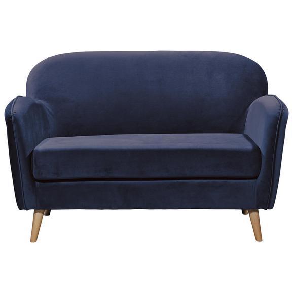 Sitzbank in Blau 'Milo' 2-Sitzer - Blau/Kieferfarben, Trend, Holz/Holzwerkstoff (142/88/92cm) - Livetastic