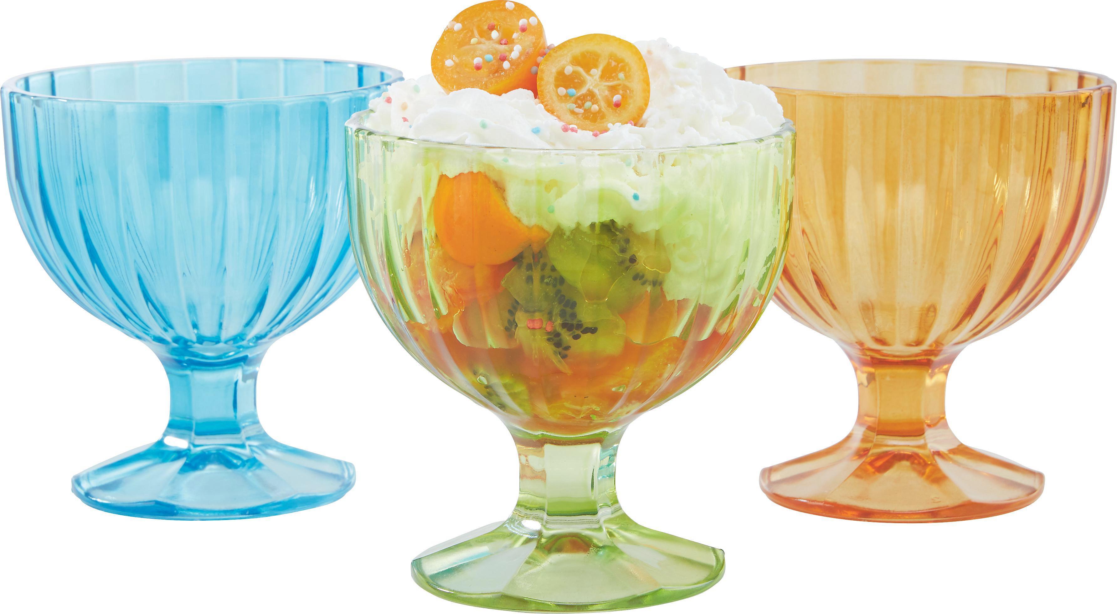 Eisschale Ellie in verschiedenen Farben - Türkis/Klar, KONVENTIONELL, Glas (7/10/13cm) - MÖMAX modern living