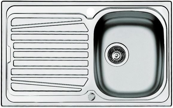 Spüle Edelstahl - Design, Metall (79/50cm)